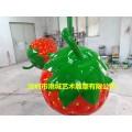装饰水果玻璃钢仿真草莓雕塑采摘节开幕生产厂家