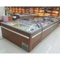三门峡商用卧式冷冻柜价格 超市组合岛柜 海鲜丸子速冻柜