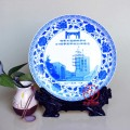 新年礼品瓷盘定做 年底员工礼品瓷盘