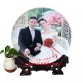 新婚纪念瓷盘定做 纪念盘加照片价格
