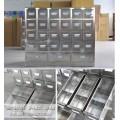 襄阳哪里有批发中药柜 不锈钢药柜中药店设计 中药铺班台