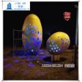 不锈钢空心镂空发光蛋雕塑恐龙蛋雕塑报价