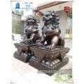 供应大型铜狮子雕塑一对仿铜狮王价格