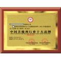 申报中国行业十大品牌证书