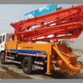 车载式混凝土搅拌泵车 34米农村建筑输送泵车 小型砂浆上料车