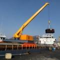 小型码头起重机 优质5t液压船用吊机 港口固定式液压船吊