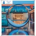 酒店不锈钢圆环雕塑价格镂空椭圆形球景观图