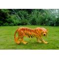 玻璃钢仿真东北虎华南老虎动物雕塑公园林景观装饰摆件