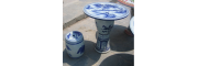 粉彩陶瓷桌凳景德镇陶瓷桌凳价格陶瓷桌凳镂空陶瓷凳子