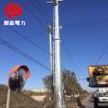 路灯电施工�_钢杆打桩安装输电钢杆工程电力钢杆打桩安装路灯钢杆施工