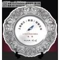 公司上市紀念品定制 10周年集團慶典紀念品 純錫紀念盤廠家
