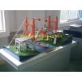 缆索吊机施工桥梁模型,立交桥模型