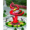 不锈钢雕塑@青海西宁不锈钢景观艺术造型雕塑生产厂家