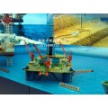 海上钻井平台模型,钻机模型,游梁式抽油机模型,防喷器模型