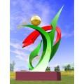 不锈钢雕塑@青海格尔木不锈钢景观艺术造型雕塑生产厂家