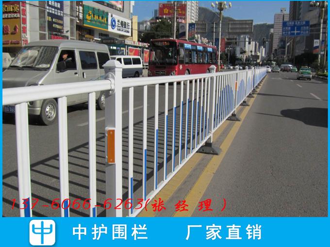江门市政护栏定制 城市交通锌钢栅栏江海道路中间护栏