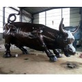 铜牛雕塑-大力神牛-博创雕塑