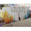 石家庄装饰画,成品半三联画量大优惠 沙河钛美画业