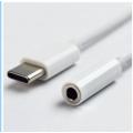 爆款白色type-C转3.5mm数据线安卓音频转接线