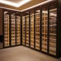 复古式不锈钢酒架不锈钢恒温酒柜玫瑰金不锈钢酒柜专业定制