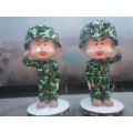 厂家直销玻璃钢雕塑卡通士兵人物仿真雕塑校园广场装饰品摆件