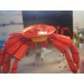 玻璃钢仿真螃蟹帝皇蟹雕塑彩绘长腿蟹模型餐厅摆件