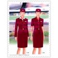 空姐短袖外套裙子套装定做 航空学生服上海亿妃服装厂