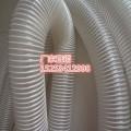 蓝色PVC塑筋吸尘管 蓝色橡胶伸缩软管 工业除尘波纹管