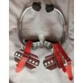 电线杆脚扣爬杆器,新款电工脚扣,水泥杆、电信路灯杆铁鞋加厚