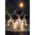 广场跳芭蕾舞女孩雕塑 喷泉裙子跳舞人物铜雕