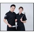 廚師工作服男短袖薄款酒店飯店西餐廳廚房女中國風夏季透氣廚師服