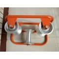 定制 管口三联井口滑轮, 电缆放线保护滑轮 ,坑口孔口滑轮