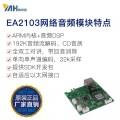 IP网络音频模块带功放网络广播对讲EA2103P