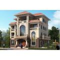 16*16豪华三层半复式自建别墅设计图,螺旋状楼梯,精致美观