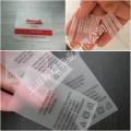 TPU透明领标/磨砂领标上海工厂