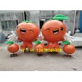 橙子示范区草坪摆件玻璃钢卡通水果雕塑仿真橙子制作