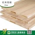 百的宝板材E0级杉木芯18mm环保免漆生态板红木花枝