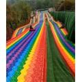 廠家提供兒童滑行無危害的旱雪草彩虹滑道報價