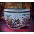 景德镇陶瓷大缸,手绘粉彩瓷大?#35013;?#20214;