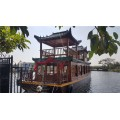 云南省木船廠出售畫舫船大型雙層餐飲船