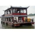 貴州木船廠出售觀光旅游船畫舫船餐飲船