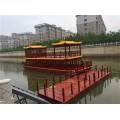 陜西省木船廠家直銷畫舫船大型觀光餐飲船