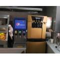 河北冰淇淋机厂家汉堡店冰淇淋机可乐机大全