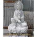 池州祠堂觀音坐像石雕佛像