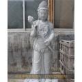 大庆4米清代寿山石雕送子观音唐石雕佛像