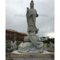 济宁清观音石雕比例假石雕佛像