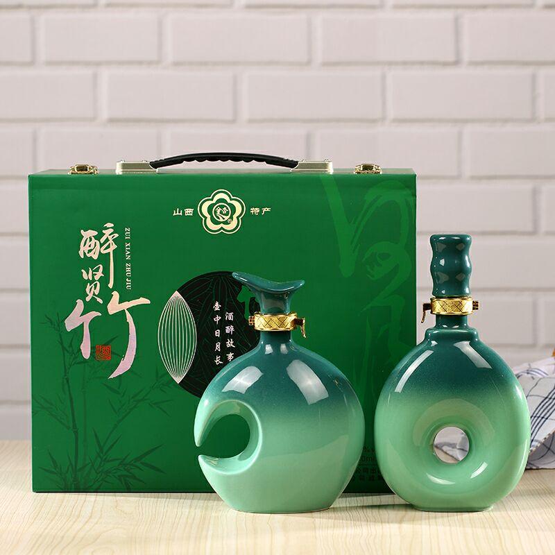 山东陶瓷酒瓶厂家直销 蓬莱陶瓷储酒器1斤厂家报价