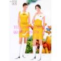 夏季饮料促销服 连衣裙 牛奶促销装定制 可印LOGO