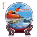 建国70周年陶瓷纪念盘 新中国成立周年礼品定制