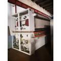 本溪林溪郡低价转让一套二手水洗厂设备二手布草烫平机折叠机